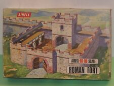 Vintage Airfix Roman Fort/en Caja Y Completo/1:72 Escala/en muy buena condición
