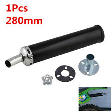 1Pcs 280mm Metal Silent Muffler Universal For Motorcycle Scooter Exhaust Pipe