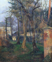 Abandoned Garden In Rouen Paul Gauguin Wall Art Print on Canvas HQ Reproduction