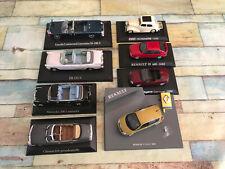Lot de 8 miniatures Voiture 1/43 Renault Citroen Présidentielle Norev Presse