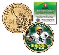 BRETT FAVRE All-Time Great PRESIDENTIAL $1 DOLLAR COIN