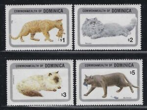 Dominica 1984 Domestic Cats set Sc# 875-84 NH
