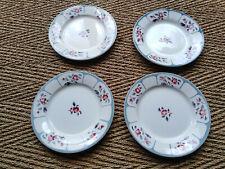 Lot de 4 assiettes plates Digoin, modèle Ninette