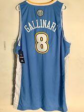 Adidas Swingman NBA Jersey Denver Nuggets Danilo Gallinari Light Blue sz XL
