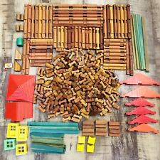 Lincoln Logs Huge Lot 366 Pieces Tons of Different Pieces