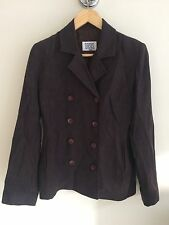Oasis Women's Velvet Double Breasted Smart Fitted Jacket. UK 10, EU 36.