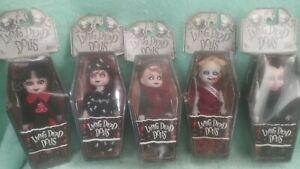 "Mezco Keychain Living Dead Dolls Mini 4"" Lizzie Borden Deadbra Sadie Kitty"
