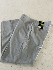 Men's Callaway Golf Pants Size 36x30 Lightweight Casual Style Gray Plaid NWT!