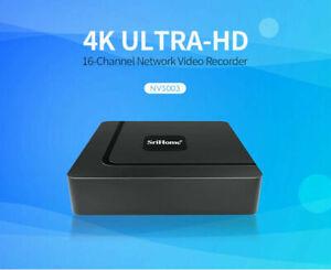 Srihome NVR003 16CH Wireless Network Video Recorder H.265.264 4K UHD ULTRA Onvif