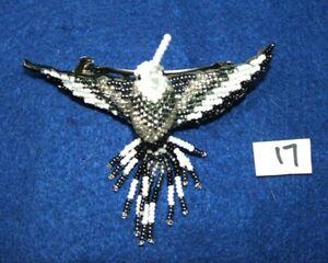 "Hummingbird Barrette 4"" Beaded French Clip closure Fair trade bead work #17"