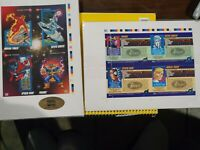 (2) Sets 1992 Limited Edition Marvel Promo Cards Uncut SHEET Sealed w/ serial #