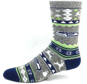 Seattle Seahawks Football Original Ugly Sweater Holiday Crew Socks