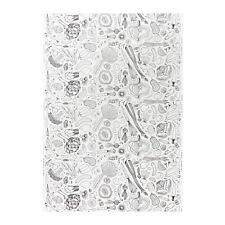 IKEA HEMTREVNAD Weiß+schwarz stoffpaket NEU
