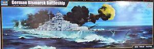 modellbausätze schiffe Trumpeter 03702 Bismarck 1:200 mit upgrade set 06627 und