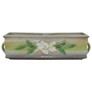 Vintage Roseville Pottery Gardenia 1950 Gray Window Box Planter 669-12