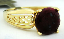 GENUINE 3.87 Cts RUBY RING 14k YELLOW GOLD * New with Tag * FREE CERTIFICATE *
