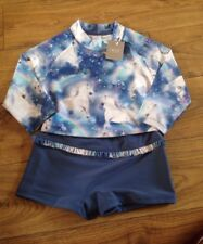 UV 50 NEXT Unicorn Sunsafe Crop Top 2 Piece Age 9 Years Height 134cm