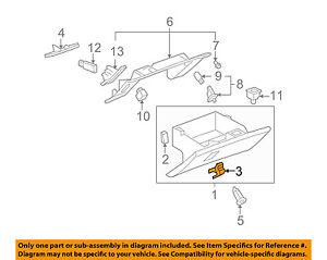 Chevrolet GM OEM 05-13 Corvette Glove Box-Handle Latch 15924033