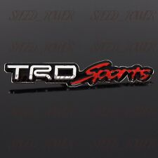"Toyota TRD 3D Aluminum Car Trunk 4.75"" Side Fender Emblem Badge Sticker Decal"