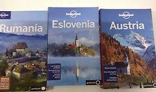 Guía Lonely Planet Rumanía edición 2010+ Eslovenia edicion 2013+ Austria ed 2012