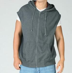 Casual Mens Sleveless Hooded Sweatshirt Zip Gilet Hoodies Sports Jacket New