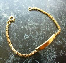 Bracelet  or jaune 18 K   avec plaque neuve  poinçon tete d aigle