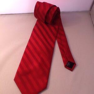 Pierre Cardin Men's Neck Tie 100% Silk Deep Red Textured Pattern