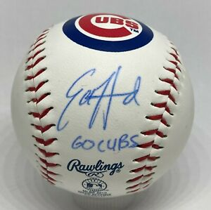 Ed Howard Signed Chicago Cubs Logo Baseball BAS WITNESSED Sticker ONLY Auction6
