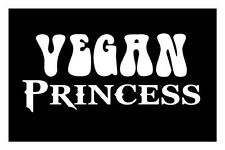 VEGAN PRINCESS 4X9 HEALTH FOOD GIRL VEGETARIAN CUTE FARM CAR DECAL STICKER