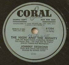 Coral 78 RPM record Johnny Desmond The High And The Mighty / In God We Trust