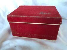 Leica Red Velvet Box for Leica M3 Camera