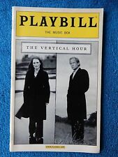 The Vertical Hour - Music Box Theatre Playbill - February 2007 - Julianne Moore