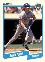 1990 Robin Yount Fleer Baseball Card #340