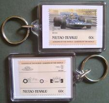 1971 TYRRELL FORD 001 F1 GP Car Stamp Keyring (Auto 100 Automobile)