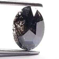1.03 Carat Salt and Pepper Oval Shape Fancy Black Natural Loose Diamonds