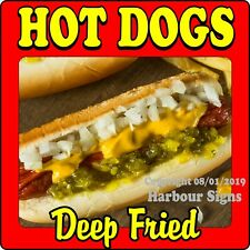 Deep Fried Hot Dogs DECAL (Choose Your Size) Concession Food Truck Vinyl Sticker
