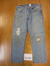 used Levis 501 destroyed feathered grunge jean tag 36x30 meas 32x29.5 16248F