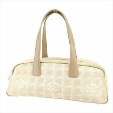Chanel Bag Handbag New travel line Beige Woman Authentic Used T7543
