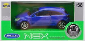 WELLY '05 OPEL VAUXHALL ASTRA GTC BLUE 1:34 DIE CAST METAL MODEL NEW IN BOX