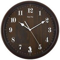 SEIKO Wall Clock Analog Mickey Mouse & Friends Disney Time Dark Brown FW577B F/S