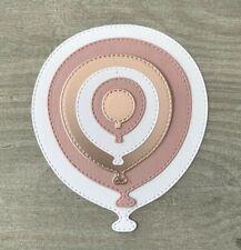 Stanzschablone/ Cutting dies Ballons Luftballons Party, bis 8,5 x10 cm, 6 teilig