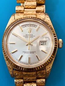 Rolex Vintage Day Date Ref. 1803 Yellow Gold Florentine Bracelet (604)