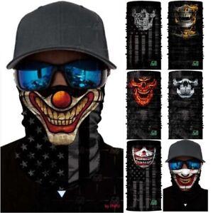 3D Men Women 2 PCS Sun Shield Mask Washable Face Cover Neck Gaiter Bandana Scarf