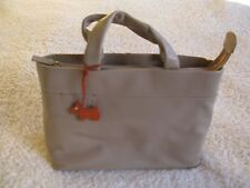 NWT beautiful genuine Radley grab handbag & shoulder strap, mocha + orange trim