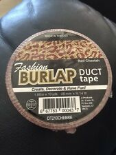 """Fashion Burlap Duct Tape Red Cheetah 1.88"""" x 10yds New!!!"""