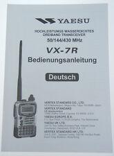 Yaesu vx-7r manuale di istruzioni originale in tedesco-Merce Nuova