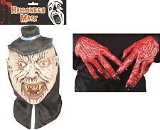 Máscara De Halloween Vampiro y las manos del Diablo Set of2 Látex Cara Disfraz Zombie Fiesta