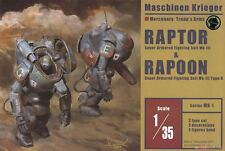 MK-01 RAPTOR & RAPOON MASCHINEN KRIEGER AQUAMARINE 1/35 MODEL KIT NEW
