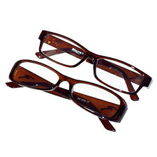 Reading Glasses Spectacles Brown Plastic Frame Boyz Toys Gone Optical +2.50 1pc