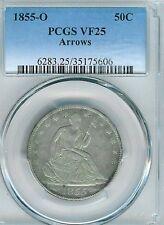 1855-O Arrows Seated Liberty Half Dollar : PCGS VF25